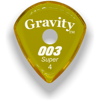 Load image into Gallery viewer, 003 Super 4.0mm Yellow Single Round Grip Acrylic Guitar Pick Handmade Custom Best Acoustic Mandolin Electric Ukulele Bass Plectrum Bright Loud Faster Speed