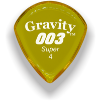 Load image into Gallery viewer, 003 Super 4.0mm Yellow Acrylic Guitar Pick Handmade Custom Best Acoustic Mandolin Electric Ukulele Bass Plectrum Bright Loud Faster Speed