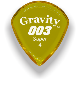 003 Super 4.0mm Yellow Acrylic Guitar Pick Handmade Custom Best Acoustic Mandolin Electric Ukulele Bass Plectrum Bright Loud Faster Speed