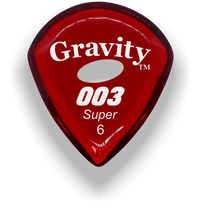 Load image into Gallery viewer, 003 Super 6.0mm Red Elipse Grip Acrylic Guitar Pick Handmade Custom Best Acoustic Mandolin Electric Ukulele Bass Plectrum Bright Loud Faster Speed