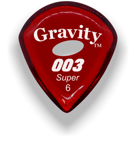 003 Super 6.0mm Red Elipse Grip Acrylic Guitar Pick Handmade Custom Best Acoustic Mandolin Electric Ukulele Bass Plectrum Bright Loud Faster Speed
