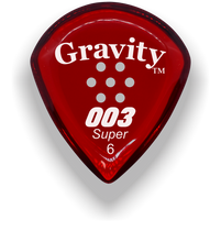 Load image into Gallery viewer, 003 Super 6.0mm Red Multi-Hole Grip Acrylic Guitar Pick Handmade Custom Best Acoustic Mandolin Electric Ukulele Bass Plectrum Bright Loud Faster Speed