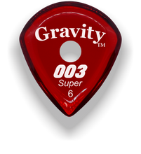 Load image into Gallery viewer, 003 Super 6.0mm Red Single Round Grip Acrylic Guitar Pick Handmade Custom Best Acoustic Mandolin Electric Ukulele Bass Plectrum Bright Loud Faster Speed
