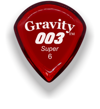 Load image into Gallery viewer, 003 Super 6.0mm Red Acrylic Guitar Pick Handmade Custom Best Acoustic Mandolin Electric Ukulele Bass Plectrum Bright Loud Faster Speed
