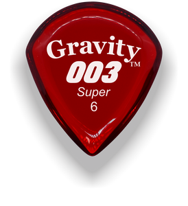003 Super 6.0mm Red Acrylic Guitar Pick Handmade Custom Best Acoustic Mandolin Electric Ukulele Bass Plectrum Bright Loud Faster Speed