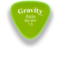 Load image into Gallery viewer, Axis Big Mini 1.5mm Fluorescent Green Acrylic Guitar Pick Handmade Custom Best Acoustic Mandolin Electric Ukulele Bass Plectrum Bright Loud Faster Speed