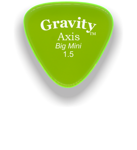 Axis Big Mini 1.5mm Fluorescent Green Acrylic Guitar Pick Handmade Custom Best Acoustic Mandolin Electric Ukulele Bass Plectrum Bright Loud Faster Speed