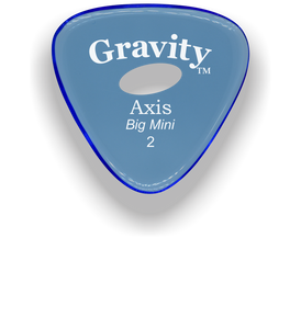 Axis Big Mini 2.0mm Blue Elipse Grip Acrylic Guitar Pick Handmade Custom Best Acoustic Mandolin Electric Ukulele Bass Plectrum Bright Loud Faster Speed