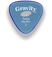 Load image into Gallery viewer, Axis Big Mini 2.0mm Blue Elipse Grip Acrylic Guitar Pick Handmade Custom Best Acoustic Mandolin Electric Ukulele Bass Plectrum Bright Loud Faster Speed