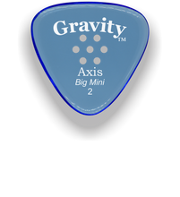 Load image into Gallery viewer, Axis Big Mini 2.0mm Blue Multi-Hole Grip Acrylic Guitar Pick Handmade Custom Best Acoustic Mandolin Electric Ukulele Bass Plectrum Bright Loud Faster Speed