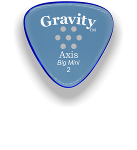 Axis Big Mini 2.0mm Blue Multi-Hole Grip Acrylic Guitar Pick Handmade Custom Best Acoustic Mandolin Electric Ukulele Bass Plectrum Bright Loud Faster Speed