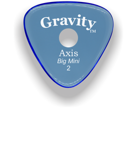 Axis Big Mini 2.0mm Blue Single Round Grip Acrylic Guitar Pick Handmade Custom Best Acoustic Mandolin Electric Ukulele Bass Plectrum Bright Loud Faster Speed