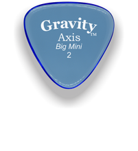 Load image into Gallery viewer, Axis Big Mini 2.0mm Blue Acrylic Guitar Pick Handmade Custom Best Acoustic Mandolin Electric Ukulele Bass Plectrum Bright Loud Faster Speed