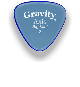 Axis Big Mini 2.0mm Blue Acrylic Guitar Pick Handmade Custom Best Acoustic Mandolin Electric Ukulele Bass Plectrum Bright Loud Faster Speed