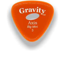Axis Big Mini 3.0mm Orange Elipse Grip Acrylic Guitar Pick Handmade Custom Best Acoustic Mandolin Electric Ukulele Bass Plectrum Bright Loud Faster Speed