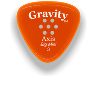 Load image into Gallery viewer, Axis Big Mini 3.0mm Orange Multi-Hole Grip Acrylic Guitar Pick Handmade Custom Best Acoustic Mandolin Electric Ukulele Bass Plectrum Bright Loud Faster Speed