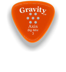 Axis Big Mini 3.0mm Orange Multi-Hole Grip Acrylic Guitar Pick Handmade Custom Best Acoustic Mandolin Electric Ukulele Bass Plectrum Bright Loud Faster Speed