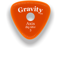 Load image into Gallery viewer, Axis Big Mini 3.0mm Orange Single Round Grip Acrylic Guitar Pick Handmade Custom Best Acoustic Mandolin Electric Ukulele Bass Plectrum Bright Loud Faster Speed