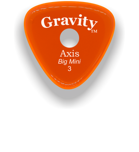 Axis Big Mini 3.0mm Orange Single Round Grip Acrylic Guitar Pick Handmade Custom Best Acoustic Mandolin Electric Ukulele Bass Plectrum Bright Loud Faster Speed