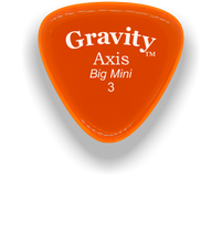 Load image into Gallery viewer, Axis Big Mini 3.0mm Orange Acrylic Guitar Pick Handmade Custom Best Acoustic Mandolin Electric Ukulele Bass Plectrum Bright Loud Faster Speed