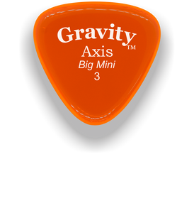 Axis Big Mini 3.0mm Orange Acrylic Guitar Pick Handmade Custom Best Acoustic Mandolin Electric Ukulele Bass Plectrum Bright Loud Faster Speed