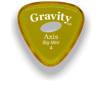 Load image into Gallery viewer, Axis Big Mini 4.0mm Yellow Elipse Grip Acrylic Guitar Pick Handmade Custom Best Acoustic Mandolin Electric Ukulele Bass Plectrum Bright Loud Faster Speed