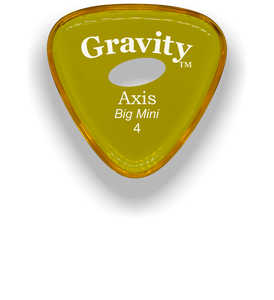 Axis Big Mini 4.0mm Yellow Elipse Grip Acrylic Guitar Pick Handmade Custom Best Acoustic Mandolin Electric Ukulele Bass Plectrum Bright Loud Faster Speed