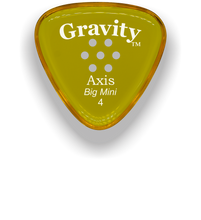 Load image into Gallery viewer, Axis Big Mini 4.0mm Yellow Multi-Hole Grip Acrylic Guitar Pick Handmade Custom Best Acoustic Mandolin Electric Ukulele Bass Plectrum Bright Loud Faster Speed