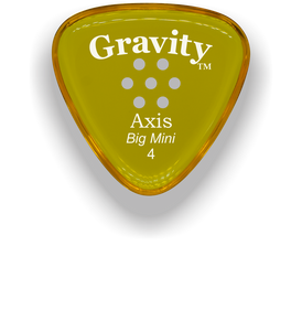 Axis Big Mini 4.0mm Yellow Multi-Hole Grip Acrylic Guitar Pick Handmade Custom Best Acoustic Mandolin Electric Ukulele Bass Plectrum Bright Loud Faster Speed