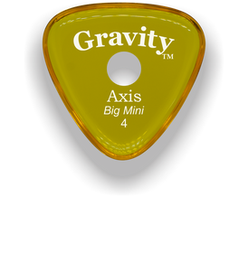 Axis Big Mini 4.0mm Yellow Single Round Grip Acrylic Guitar Pick Handmade Custom Best Acoustic Mandolin Electric Ukulele Bass Plectrum Bright Loud Faster Speed