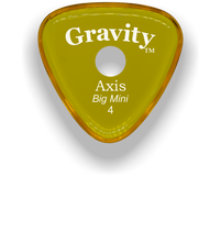 Load image into Gallery viewer, Axis Big Mini 4.0mm Yellow Single Round Grip Acrylic Guitar Pick Handmade Custom Best Acoustic Mandolin Electric Ukulele Bass Plectrum Bright Loud Faster Speed