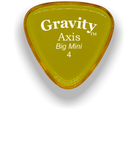 Load image into Gallery viewer, Axis Big Mini 4.0mm Yellow Acrylic Guitar Pick Handmade Custom Best Acoustic Mandolin Electric Ukulele Bass Plectrum Bright Loud Faster Speed