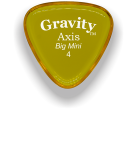 Axis Big Mini 4.0mm Yellow Acrylic Guitar Pick Handmade Custom Best Acoustic Mandolin Electric Ukulele Bass Plectrum Bright Loud Faster Speed