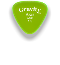Load image into Gallery viewer, Axis Mini Jazz 1.5mm Fluorescent Green Acrylic Guitar Pick Handmade Custom Best Acoustic Mandolin Electric Ukulele Bass Plectrum Bright Loud Faster Speed