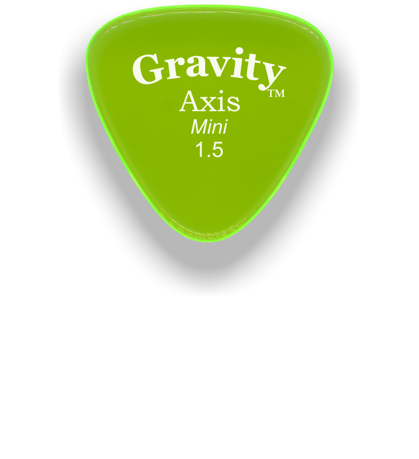 Axis Mini Jazz 1.5mm Fluorescent Green Acrylic Guitar Pick Handmade Custom Best Acoustic Mandolin Electric Ukulele Bass Plectrum Bright Loud Faster Speed