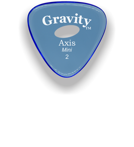 Axis Mini Jazz 2.0mm Blue Elipse Grip Acrylic Guitar Pick Handmade Custom Best Acoustic Mandolin Electric Ukulele Bass Plectrum Bright Loud Faster Speed