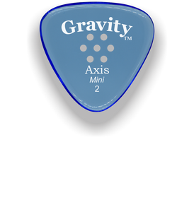 Axis Mini Jazz 2.0mm Blue Multi-Hole Grip Acrylic Guitar Pick Handmade Custom Best Acoustic Mandolin Electric Ukulele Bass Plectrum Bright Loud Faster Speed
