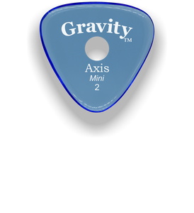 Axis Mini Jazz 2.0mm Blue Single Round Grip Acrylic Guitar Pick Handmade Custom Best Acoustic Mandolin Electric Ukulele Bass Plectrum Bright Loud Faster Speed