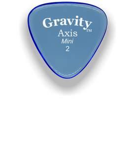Axis Mini Jazz 2.0mm Blue Acrylic Guitar Pick Handmade Custom Best Acoustic Mandolin Electric Ukulele Bass Plectrum Bright Loud Faster Speed