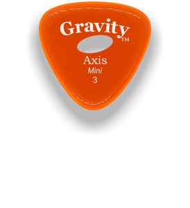 Axis Mini Jazz 3.0mm Orange Elipse Grip Acrylic Guitar Pick Handmade Custom Best Acoustic Mandolin Electric Ukulele Bass Plectrum Bright Loud Faster Speed
