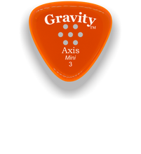 Load image into Gallery viewer, Axis Mini Jazz 3.0mm Orange Multi-Hole Grip Acrylic Guitar Pick Handmade Custom Best Acoustic Mandolin Electric Ukulele Bass Plectrum Bright Loud Faster Speed