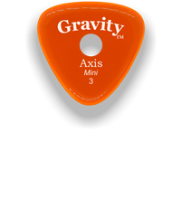 Load image into Gallery viewer, Axis Mini Jazz 3.0mm Orange Single Round Grip Acrylic Guitar Pick Handmade Custom Best Acoustic Mandolin Electric Ukulele Bass Plectrum Bright Loud Faster Speed