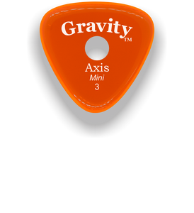 Axis Mini Jazz 3.0mm Orange Single Round Grip Acrylic Guitar Pick Handmade Custom Best Acoustic Mandolin Electric Ukulele Bass Plectrum Bright Loud Faster Speed