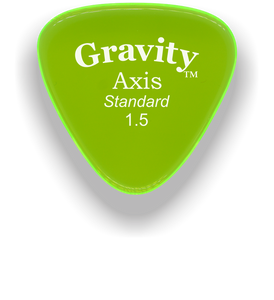 Axis Standard 1.5mm Fluorescent Green Acrylic Guitar Pick Handmade Custom Best Acoustic Mandolin Electric Ukulele Bass Plectrum Bright Loud Faster Speed