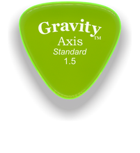 Load image into Gallery viewer, Axis Standard 1.5mm Fluorescent Green Acrylic Guitar Pick Handmade Custom Best Acoustic Mandolin Electric Ukulele Bass Plectrum Bright Loud Faster Speed