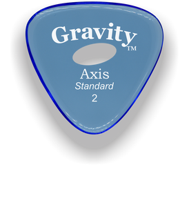 Axis Standard 2.0mm Blue Elipse Grip Acrylic Guitar Pick Handmade Custom Best Acoustic Mandolin Electric Ukulele Bass Plectrum Bright Loud Faster Speed