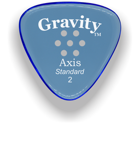 Axis Standard 2.0mm Blue Multi-Hole Grip Acrylic Guitar Pick Handmade Custom Best Acoustic Mandolin Electric Ukulele Bass Plectrum Bright Loud Faster Speed