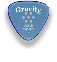 Load image into Gallery viewer, Axis Standard 2.0mm Blue Multi-Hole Grip Acrylic Guitar Pick Handmade Custom Best Acoustic Mandolin Electric Ukulele Bass Plectrum Bright Loud Faster Speed