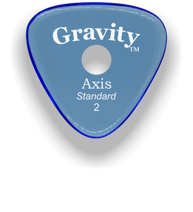 Axis Standard 2.0mm Blue Single Round Grip Acrylic Guitar Pick Handmade Custom Best Acoustic Mandolin Electric Ukulele Bass Plectrum Bright Loud Faster Speed