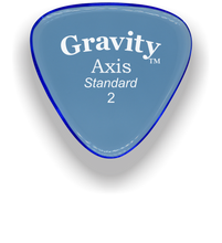 Load image into Gallery viewer, Axis Standard 2.0mm Blue Acrylic Guitar Pick Handmade Custom Best Acoustic Mandolin Electric Ukulele Bass Plectrum Bright Loud Faster Speed